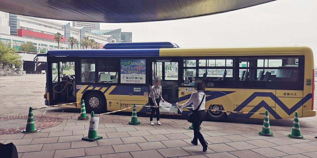 G20大阪サミット会場へはバスで移動