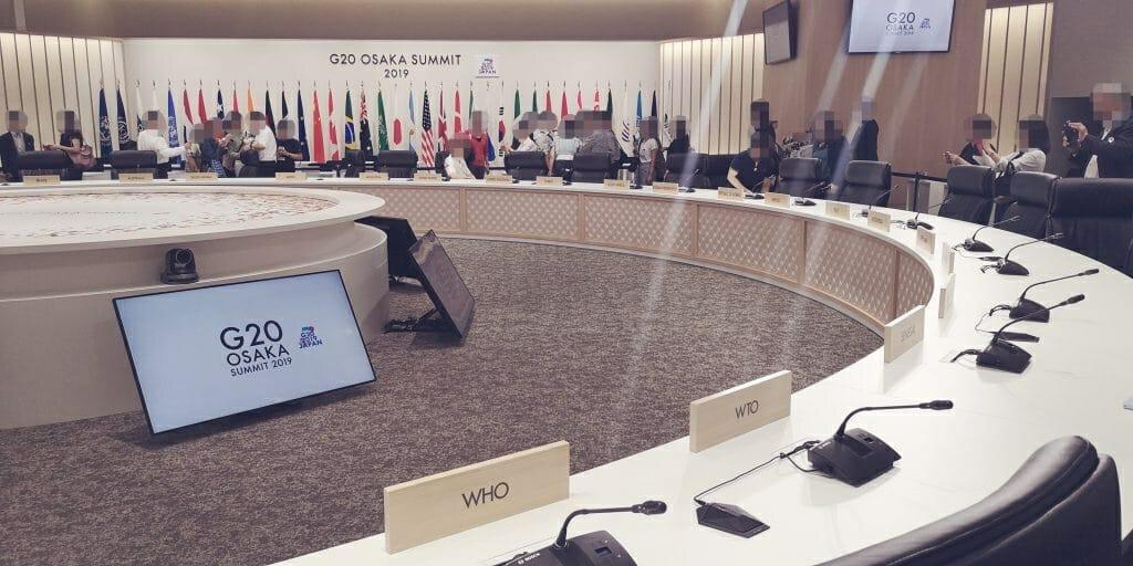 首脳会議場(WTO席)