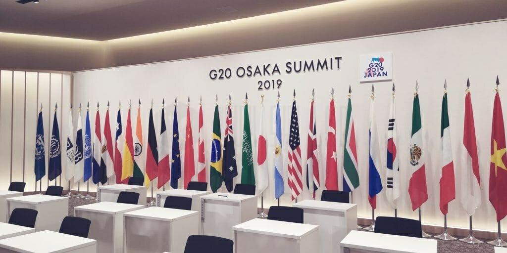 G20大阪サミット 首脳会議場