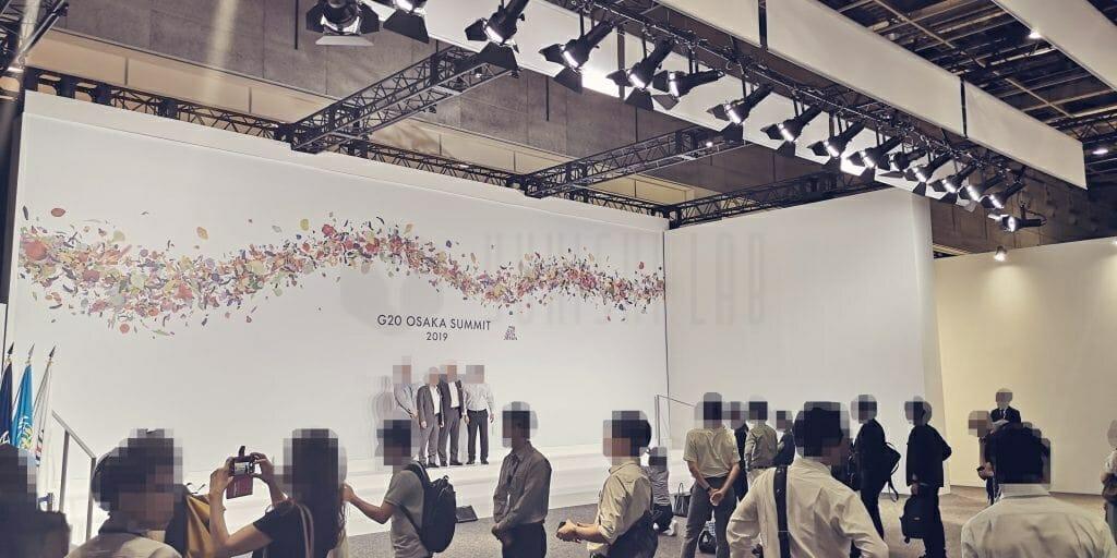 G20大阪サミット 首脳撮影エリア