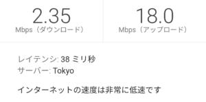 楽天モバイル スーパーホーダイ12:00の高速測定結果