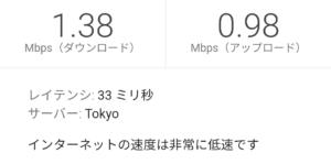 楽天モバイル スーパーホーダイ14:00の低速測定結果