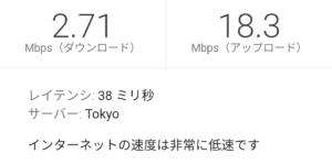 楽天モバイル スーパーホーダイ14:00の高速測定結果