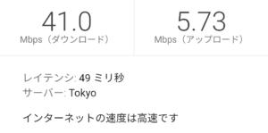 とくとくBB WiMAX2+ ギガ放題15:00の測定結果