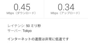 楽天モバイル スーパーホーダイ18:00の低速測定結果