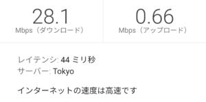 とくとくBB WiMAX2+ ギガ放題20:00の測定結果