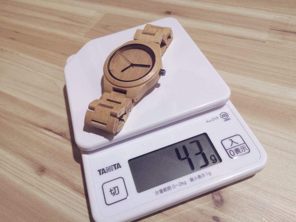 BOBOBIRD腕時計の重量