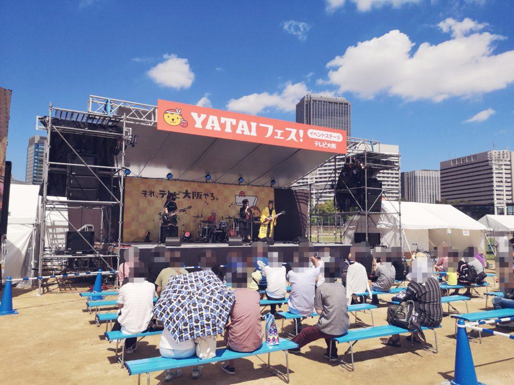 YATAI(屋台)フェスのメインステージ