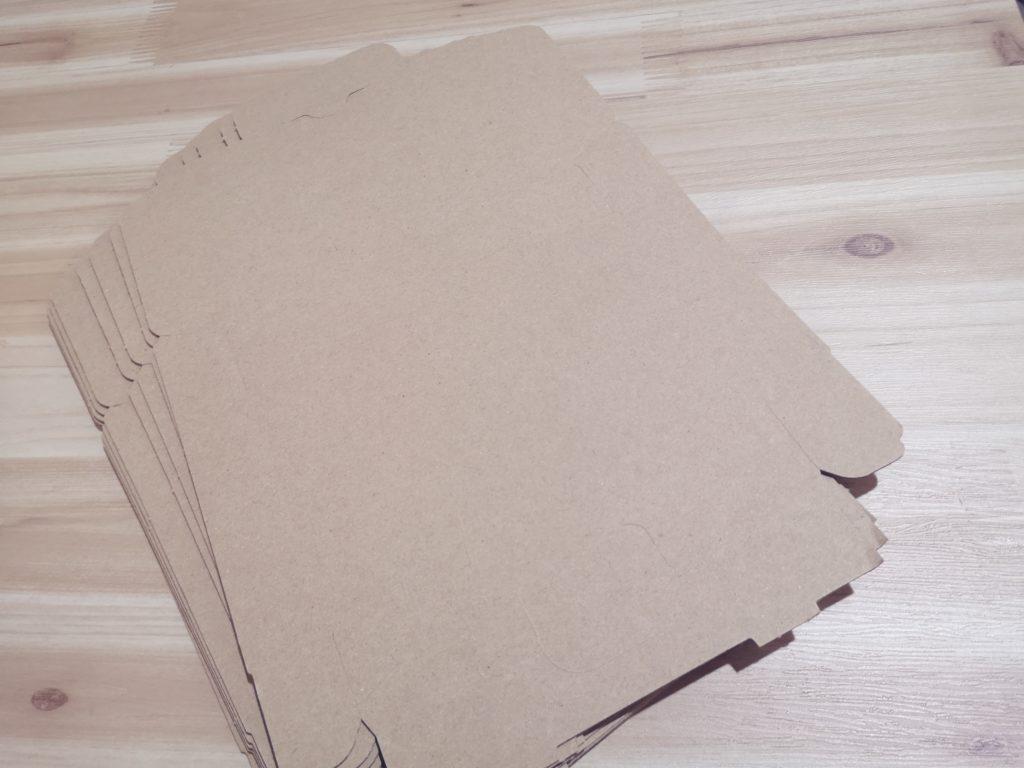 ゆうパケット用の梱包ダンボールの展開図