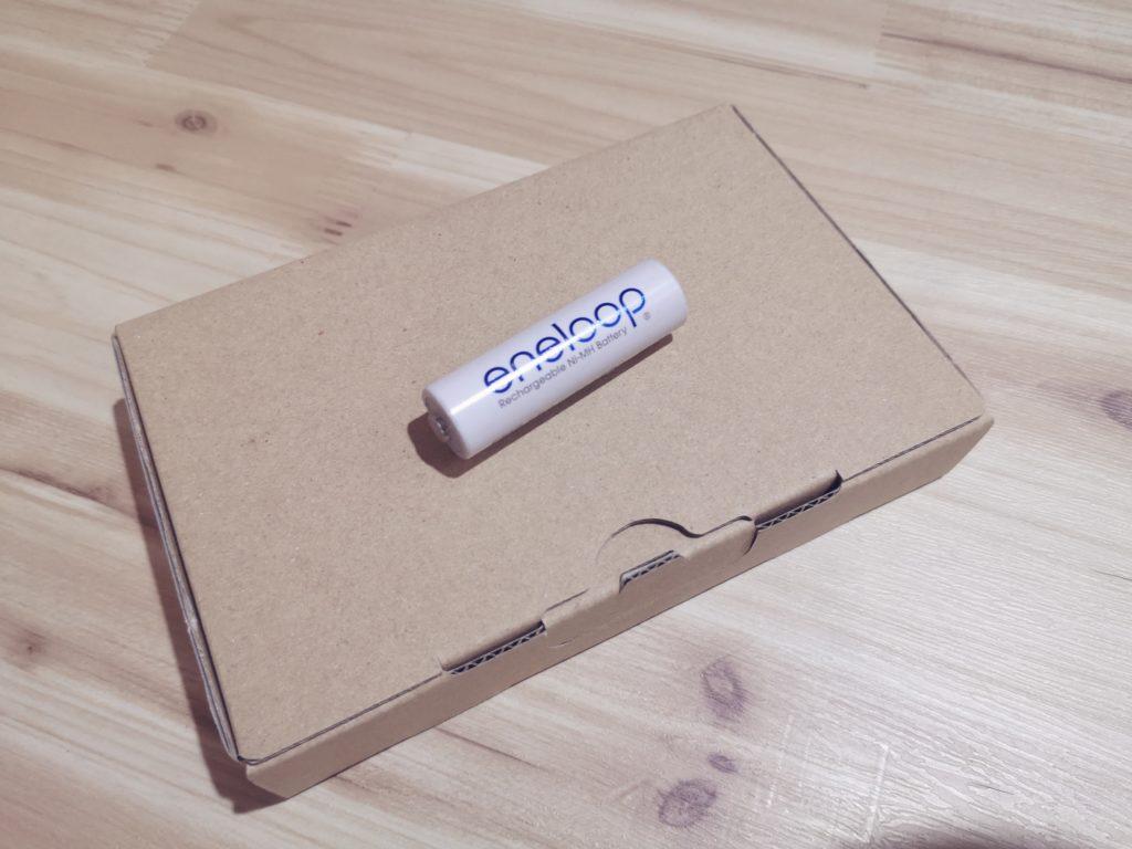 ゆうパケット用の梱包ダンボールの梱包状態