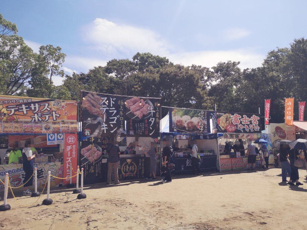 YATAI(屋台)フェスの風景