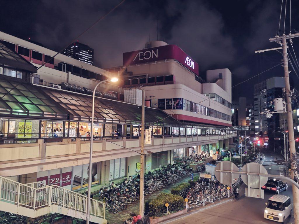 イオン京橋店の駐車場