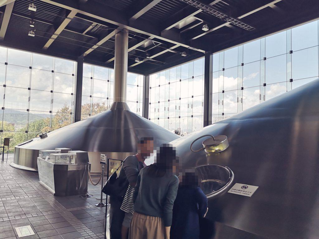 サントリー京都ブルワリーの仕込みタンク