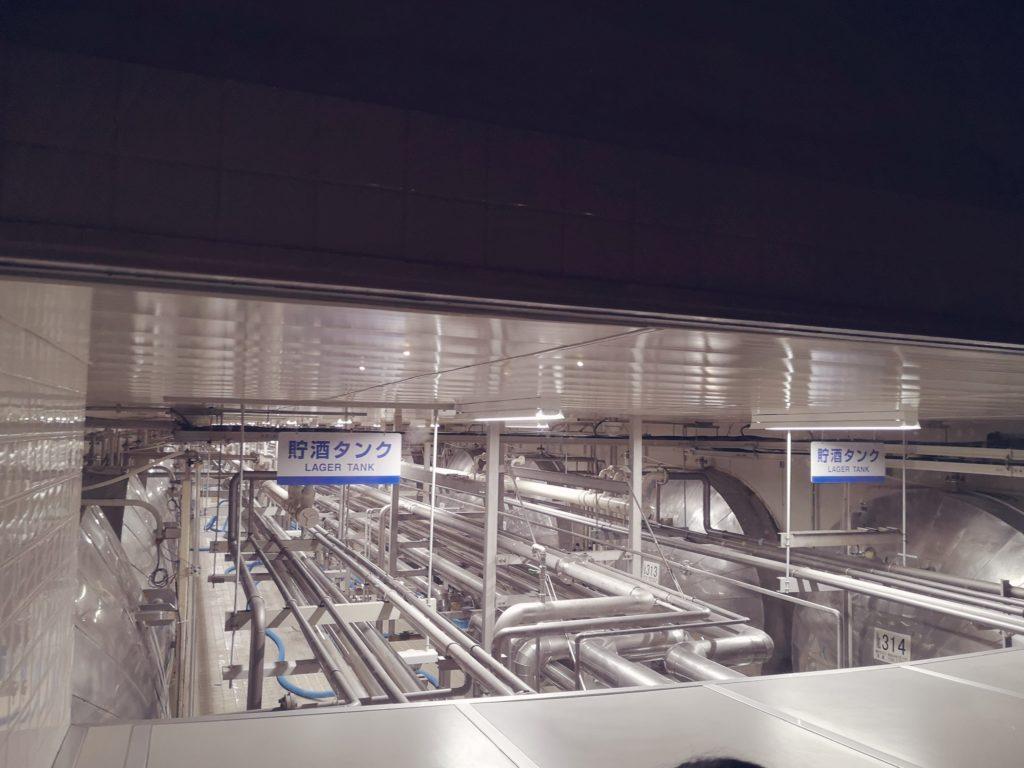 サントリー京都ブルワリーの貯酒タンク