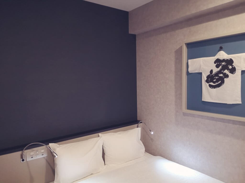 変なホテル博多のベッド
