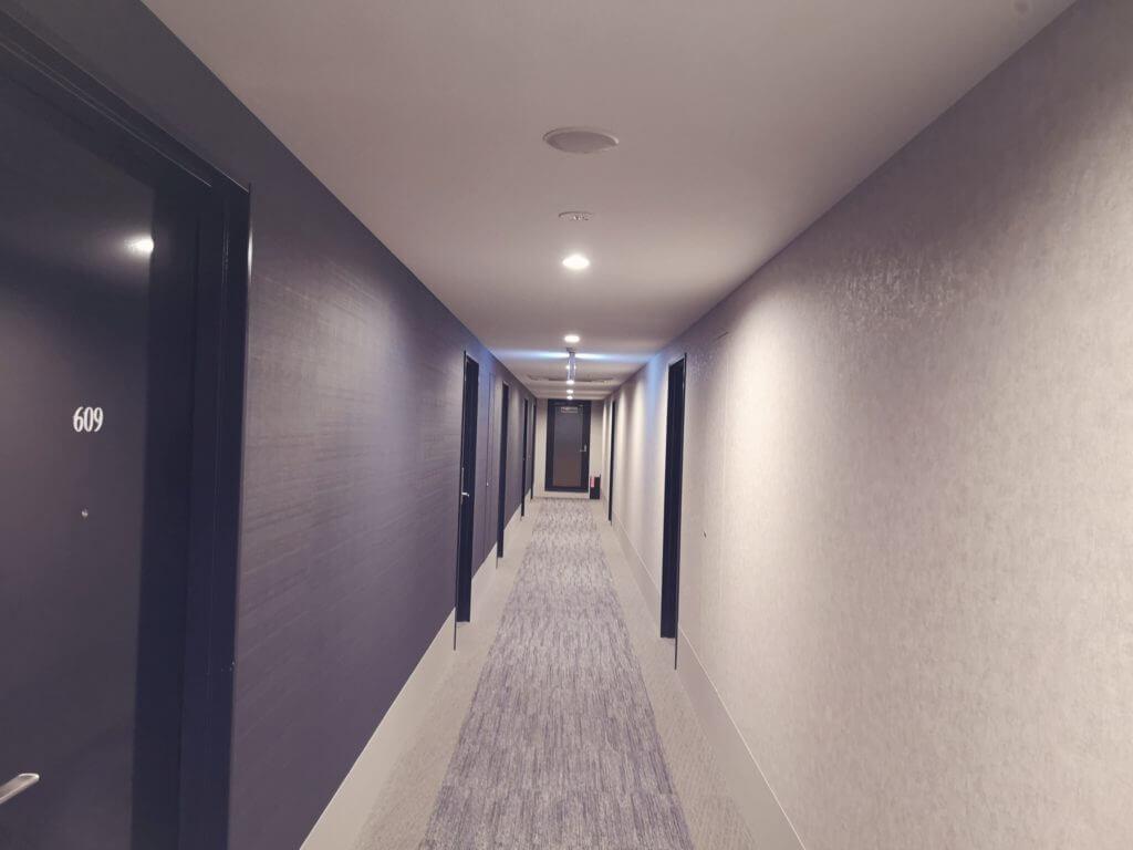 変なホテル博多の客室フロア