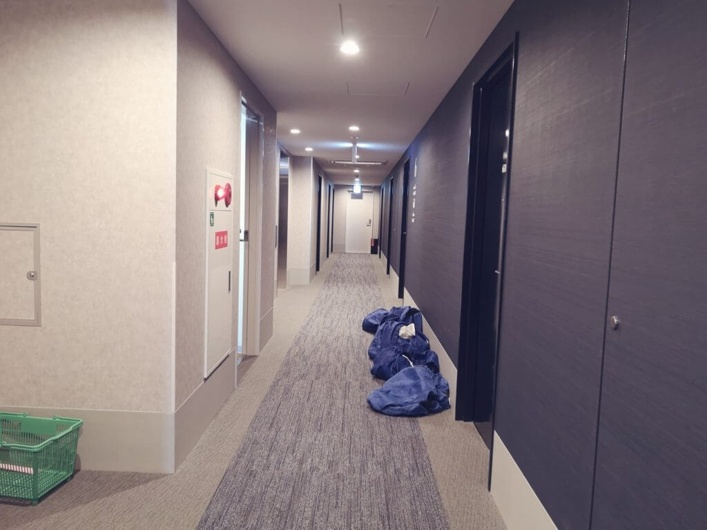 変なホテル博多の清掃