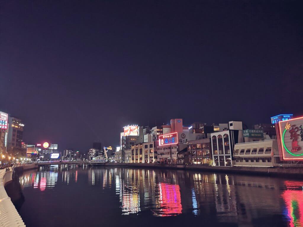 博多中州周辺の夜景
