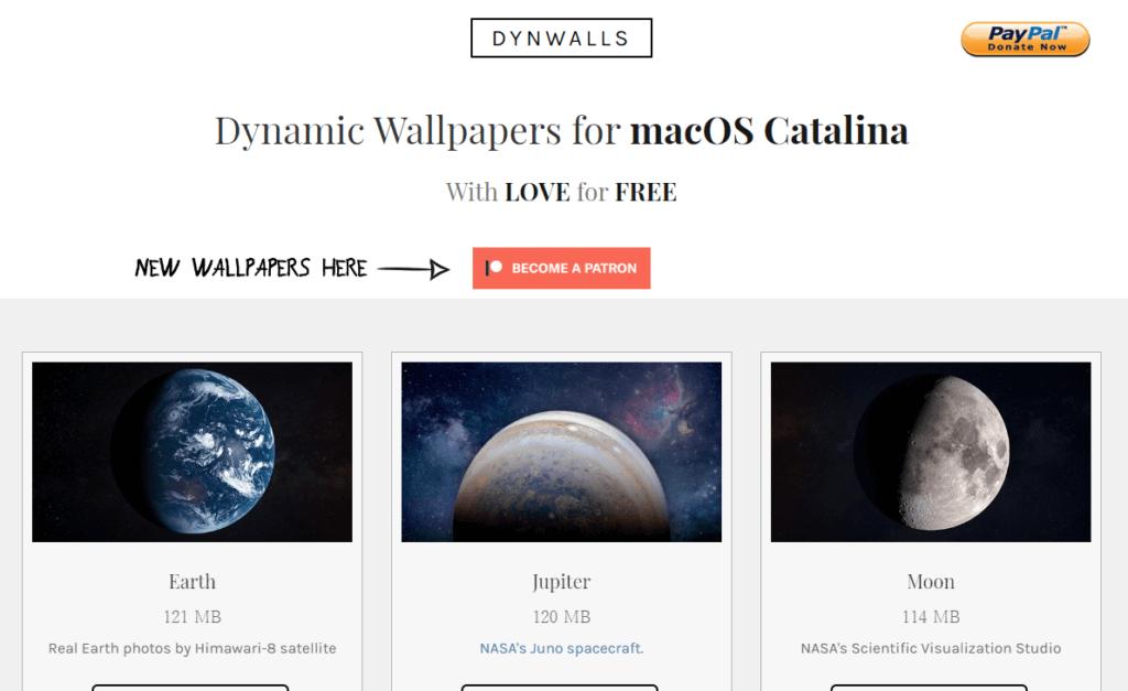 DYNWALLSのトップページ
